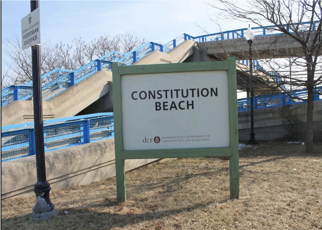 Photo of the Constitution Beach sign