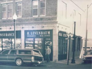 Exterior image of H Levenbaum office from mid 20th century